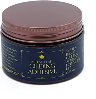 Gilding Adhesive 120ml, Professional Quality, Water Based Gold Leaf Sheets Size