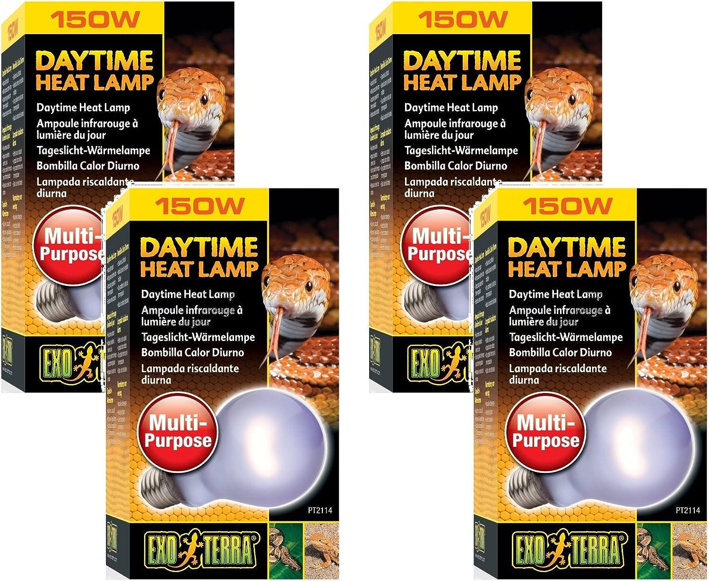 Exo Terra SunGlo Neodymium A21 Lamp, 150Watt (4 Pack)