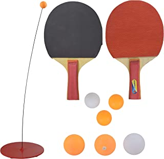 WISHKEY Table Tennis Racket and Trainer Toy Set Game with Ping Pong Balls