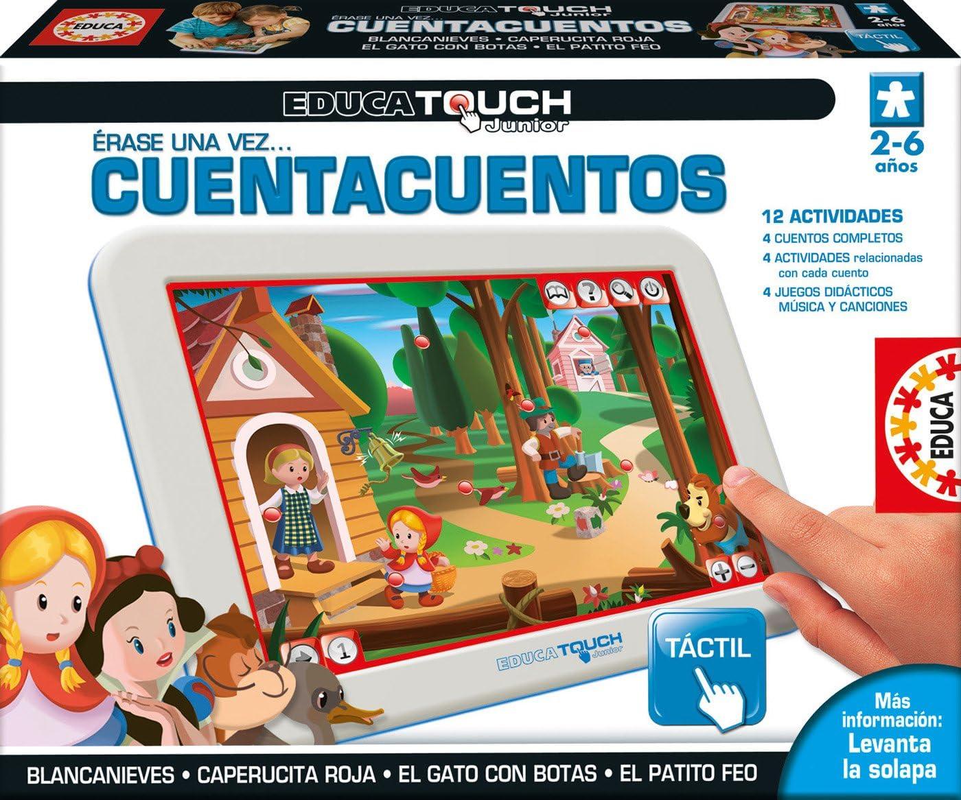 Educa - EducaTouch Junior Érase Una Vez...Cuentacuentos, con música y canciones, Juego educativo para niños, A partir de 24 meses, Ref.15746