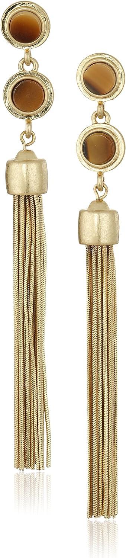 Vince Camuto Linear Tassel Post Drop Earrings