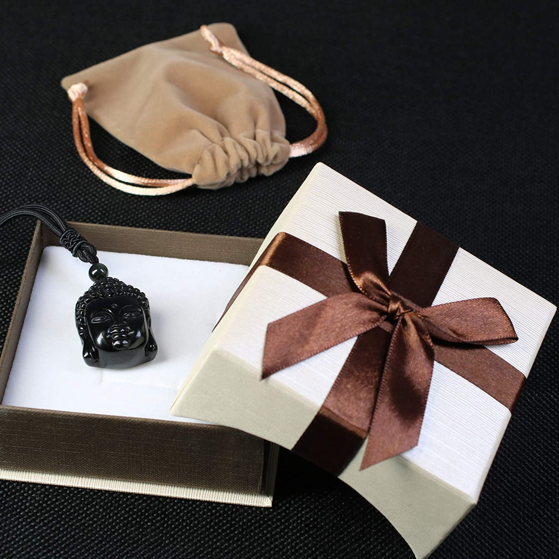 coai Protection Amulet Gems Buddha Necklace Obsidian