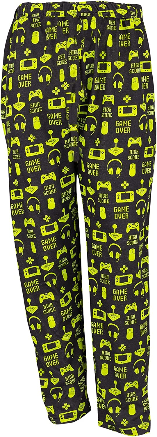 Shikaar - Youth Lounge Pants in Gamer Graphic Print (Black/Green, Youth X-Large 14/16)