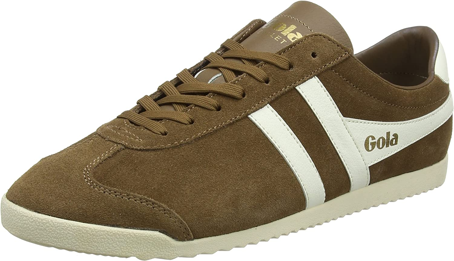 Gola Men's Bullet Suede Tobacco Off White Trainers