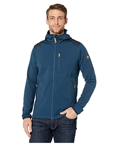 Fjallraven Keb Fleece Hoodie (Storm/Night Sky) Men