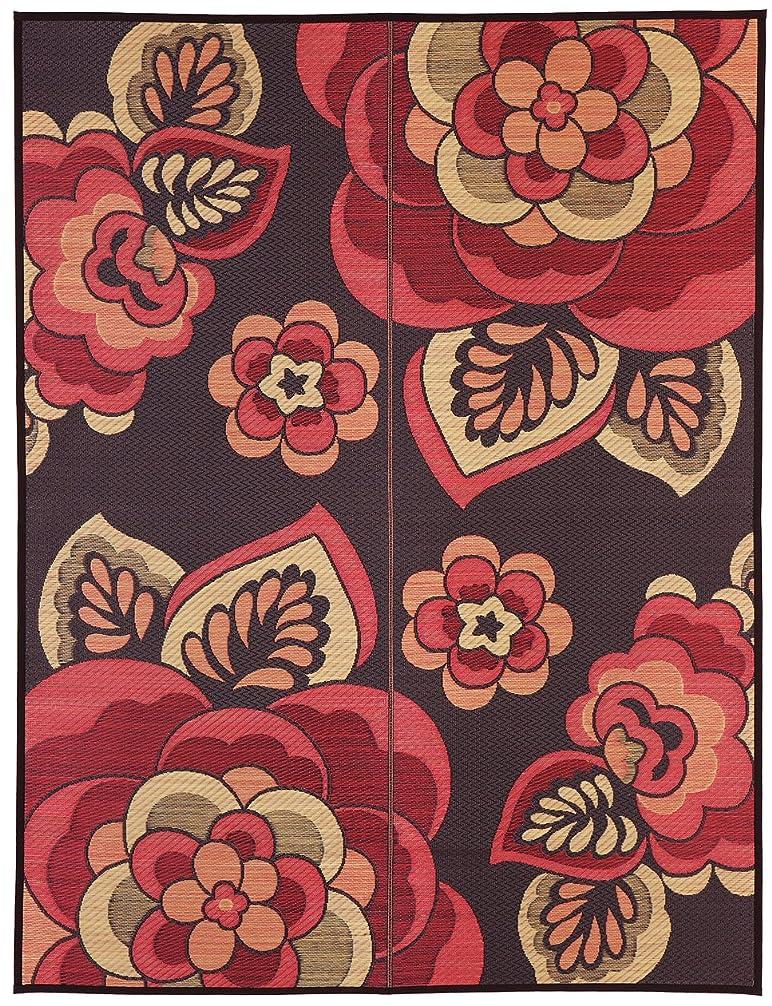 萩原 い草 ラグ カーペット 「クラウディア」 レッド 約191X250 国産 三重織 29003611