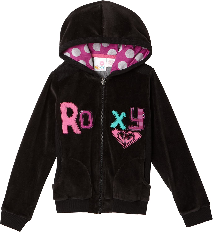 Roxy Little Girls' Roxy Teenie Wahine - Giddy Up Fashion Velour Zip-Up Hoodie