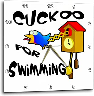 3dRose Funny Cuckoo for Swimming Bird Design - Wall Clock, 10 by 10-Inch (DPP_201184_1)