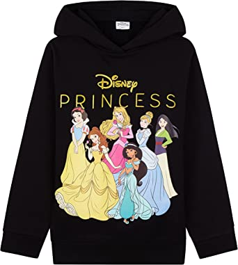Disney Princess Girls Hoodies, Hooded Girls Jumpers, Kids Clothes Disney Gifts
