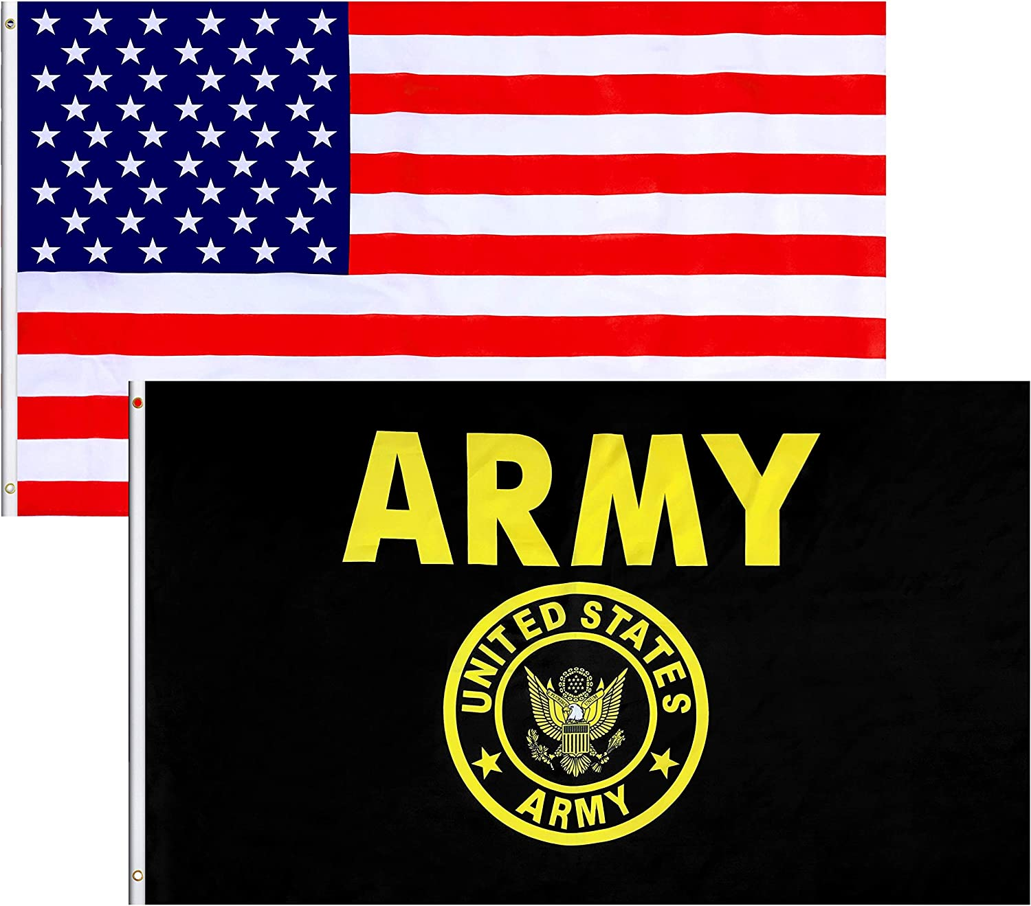 LoveVC US Army Gold Crest Max 73% OFF Flag and American U – FT 3x5 Directly managed store