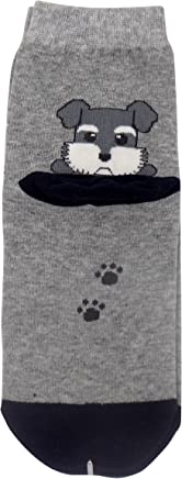 Mini Schnauzer Socks - Women Novelty Fashion Socks Miniature Schnauzer Dog