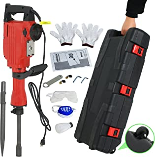 F2C 2200W Heavy Duty Electric Demolition Jack Hammer Concrete Breaker Power Tool Kit 2..