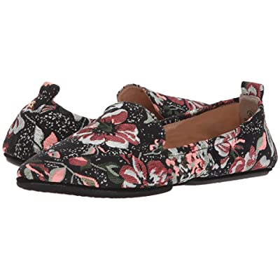Yosi Samra Skylar (Black Floral Metallic Brocade) Women
