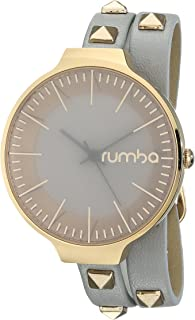 RumbaTime Orchard Double Wrap Pewter Analog Display Japanese Quartz Watch
