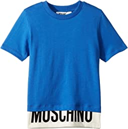 Short Sleeve T-Shirt w/ Logo Hem (Little Kids/Big Kids)