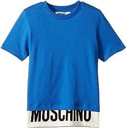 Short Sleeve T-Shirt w/ Logo Hem (Little Kids/Big Kids)