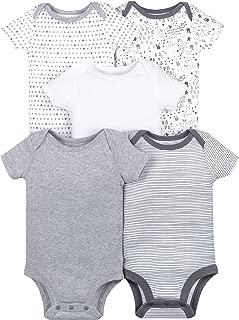 Lamaze Unisex-Baby LA1304368I18 Organic 5 Pack Shortsleeve Bodysuits Layette Set