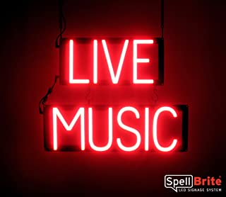 SpellBrite Ultra-Bright Live Music Sign Neon-LED Sign (Neon Look, LED Performance)