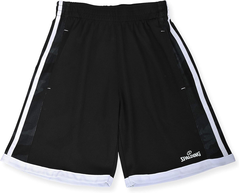 Spalding Boys Jab Camo Performance Athletic Basketball Short, Black