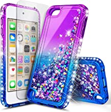 iPod Touch 7 Case, iPod Touch 6 Case with Screen Protector, E-Began Glitter Liquid..