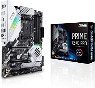 ASUS PRIME X570-PRO/CSM AMD AM4 ATX Motherboard, PCIe 4.0, 14 DrMOS power stages, M.2, HDMI, SATA 6Gb/s, USB 3.2 Gen 2, Au...