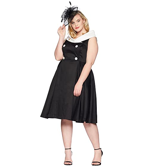 Unique Vintage Plus Size Barbie X Uv After Five Swing Dress At