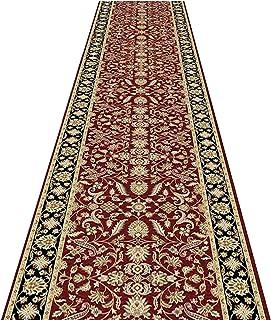 Red Runner tapijt antislip hal tapijt wasbaar keuken loper tapijt voor hal keuken slaapkamer woonkamer (afmetingen: 100 x ...