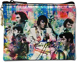 Elvis Presley Collage Key Chain Coin Purse