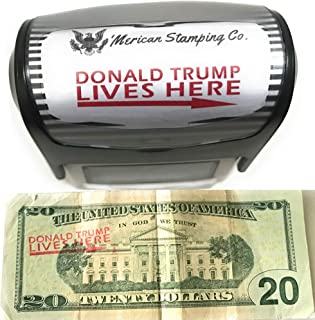 Donald Trump Lives Here Stamp Trump Stamp MAGA Self Inking Rubber Stamp Red Ink