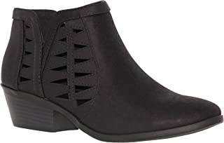 Shoes Women's Ankle Booties - Soda Perforated Cut Out Stacked Block Heel - Comfy Booties for All Season