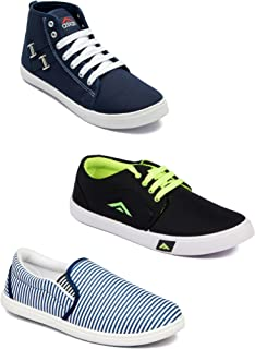 Asian Men's Casual Shoes Combo Pack of 3-0901-M107