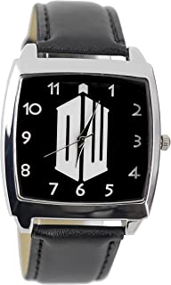 Doctor Who DW Logo Genuine Leather Quartz Wrist Watch