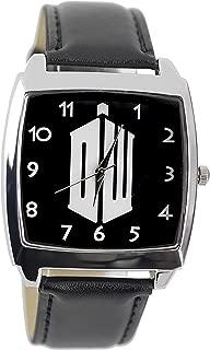 Doctor Who DW Logo Genuine Leather Quartz Wrist Watch