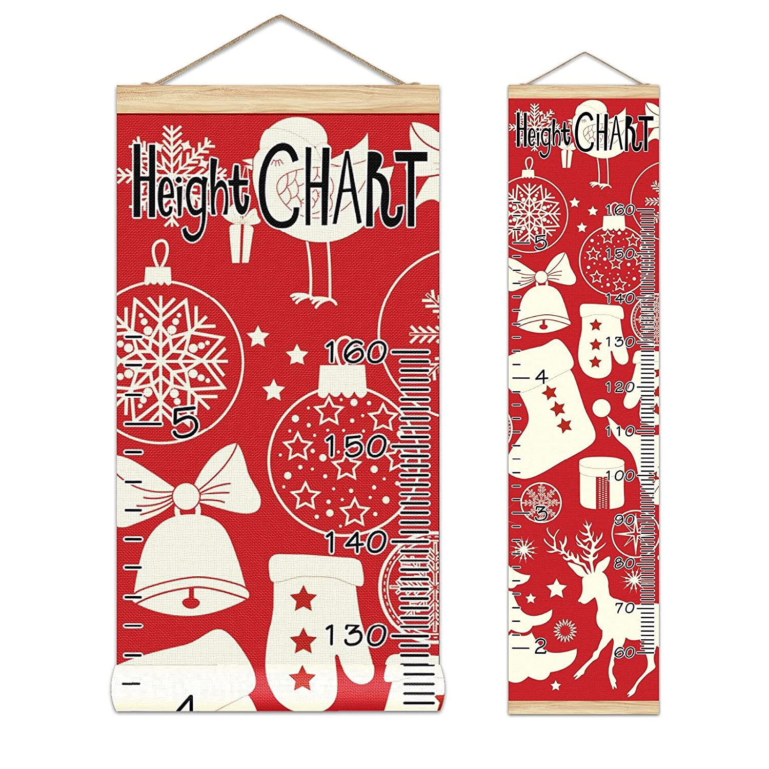 Growth Chart Kid's Height Christmas Ch Excellence Elements Red Max 46% OFF