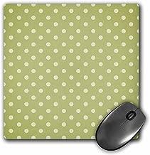 3dRose LLC 8x 8x 0. 25بوصة ، وسادة ماوس ، لون أخضر طحلبي بنمط Polka Dot (MP _ _ _ _ _ _ _ 44219_ _ _ _ _ _ _ 1)