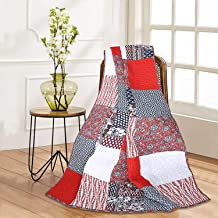RAJRANG BRINGING RAJASTHAN TO YOU Patchwork Decorative Throw Blanket Multi Color Super Soft Warm Indian Vintage Quilt for ...