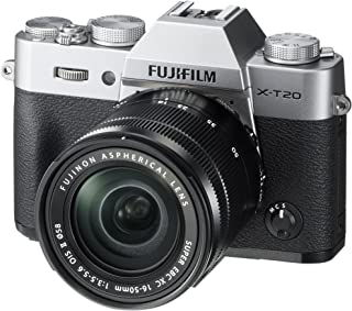 Fujifilm X-T20-24.3 MP Mirrorless Digital Camera with XC 16-50mm F3.5-5.6 OIS II Lens, Silver
