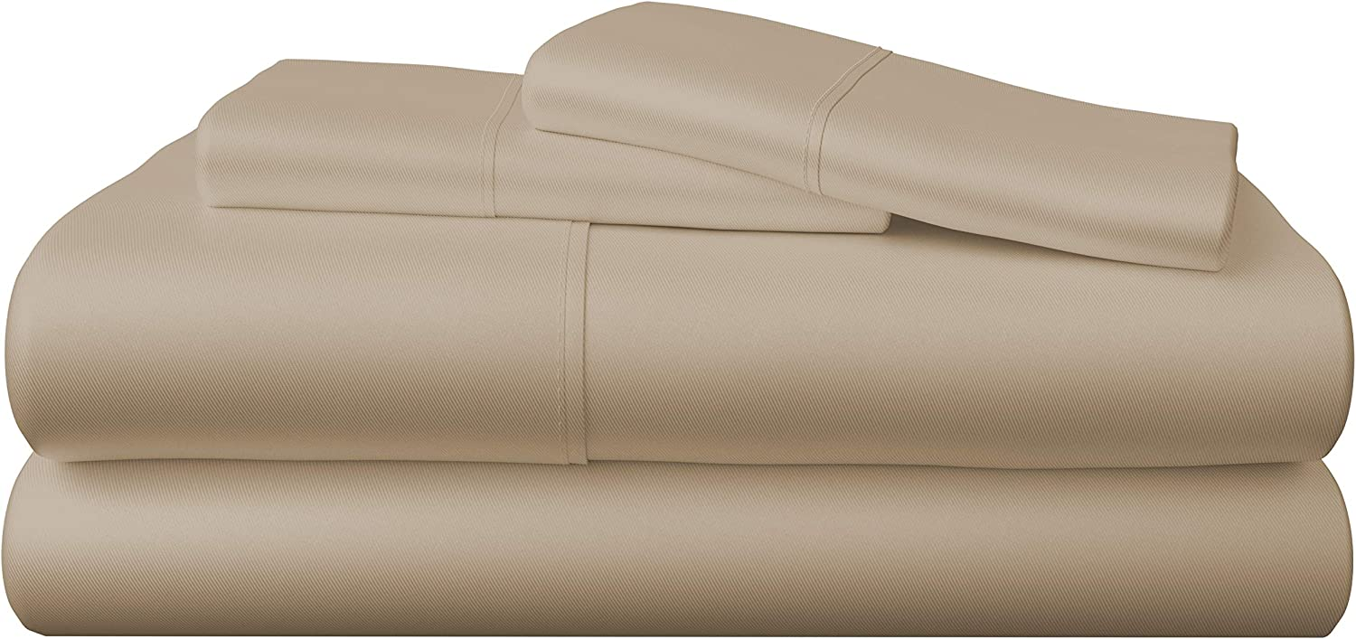 Cooling 100% Viscose from Bamboo Sheets (10 Colors) - Soft, Breathable 4-Piece Bamboo Sheet Set - Extra Deep Pocket, No-Slip Fitted Sheet (Queen Size, Sand)