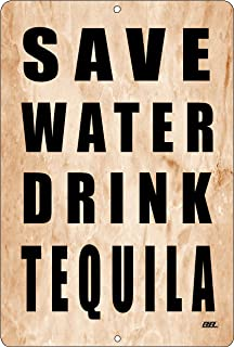 Rogue River Tactical Funny Beer Alcohol Sign Metal Tin Sign Home Bar Kitchen Save Water Drink Tequila