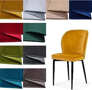 Tukan-tex BLUVEL Möbelstoff Velours Velvet Stoff/Wildleder-Look 50x150cm 9068 Gold
