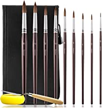 Artist Paint Brushes Set- Round Detail Paint Brush Set, Sable Hair 9 Different Sizes for Watercolors, Acrylics, Inks, Goua...