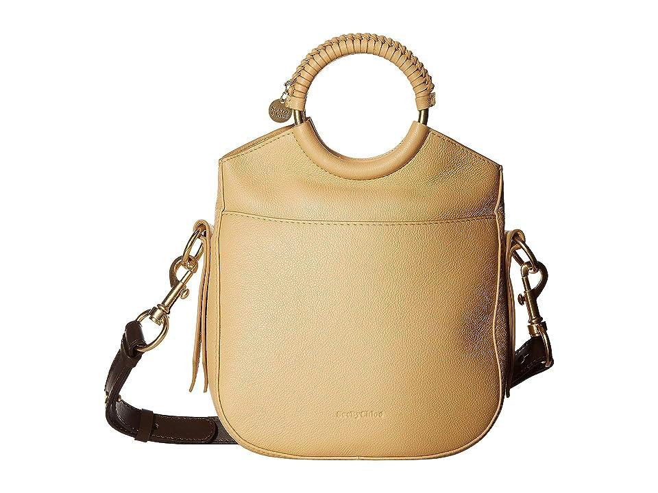 See by Chloe Monroe Small Bracelet Tote (Straw Beige) Tote Handbags
