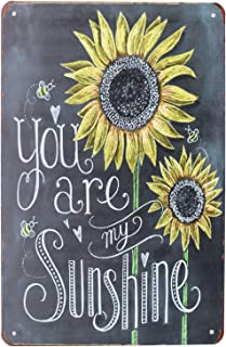 SUMIK You are My Sunshine, Metal Tin Sign, Vintage Art Poster Plaque Living Room Bedroom Home Wall Decor