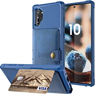 Note10+ 5G Wallet Card Case,Leather Credit Card Cash Slot Protective Cover Durable Shell Kickstand Men Women