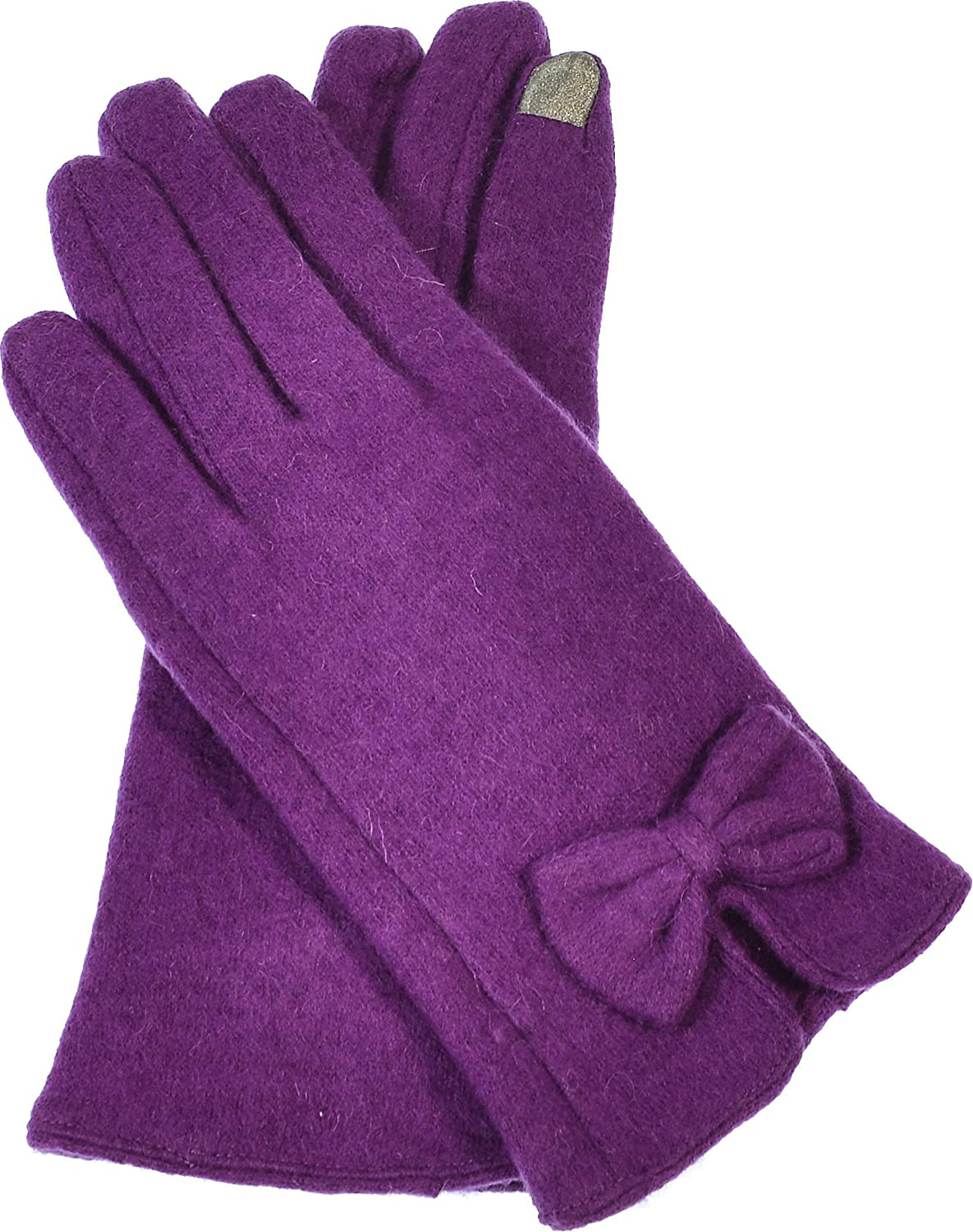 Hand By Hand Women's I-Touch Gloves Screen Bow Tie Elegant Warmth