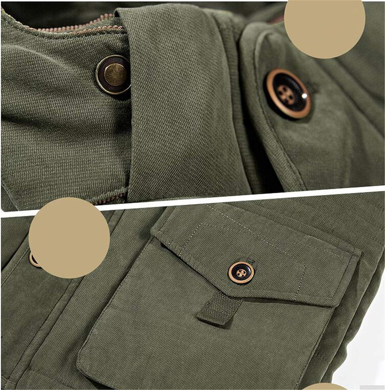 Tealun Men's Warm Winter Coats Thick Fleece Jackets Male Outerwear Detachable with Hooded Parkas