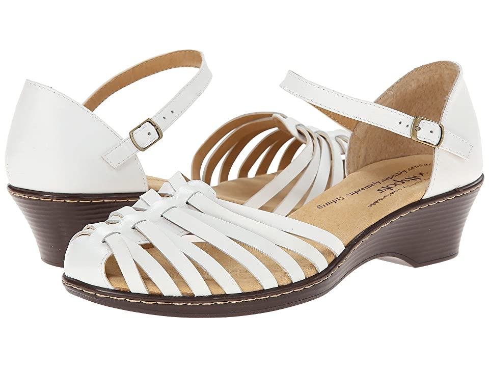 1930s Style Shoes – Art Deco Shoes Comfortiva - Tatianna - Soft Spots White Womens Slip on  Shoes $69.95 AT vintagedancer.com