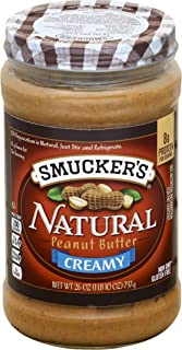 Smucker's Natural Creamy Peanut Butter, 26 Ounce (Pack of 6)