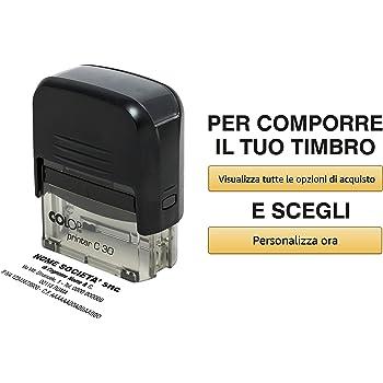 Timbro Tascabile Personalizzato 18x47mm Amazon It Cancelleria E