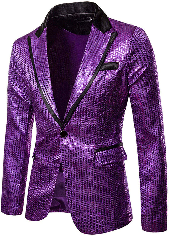 DZQUY Men's Casual Suit Blazer Jackets Lightweight Sports Coats Fashion Slim Fit Business Party Wedding Dress Suit Tuxedo